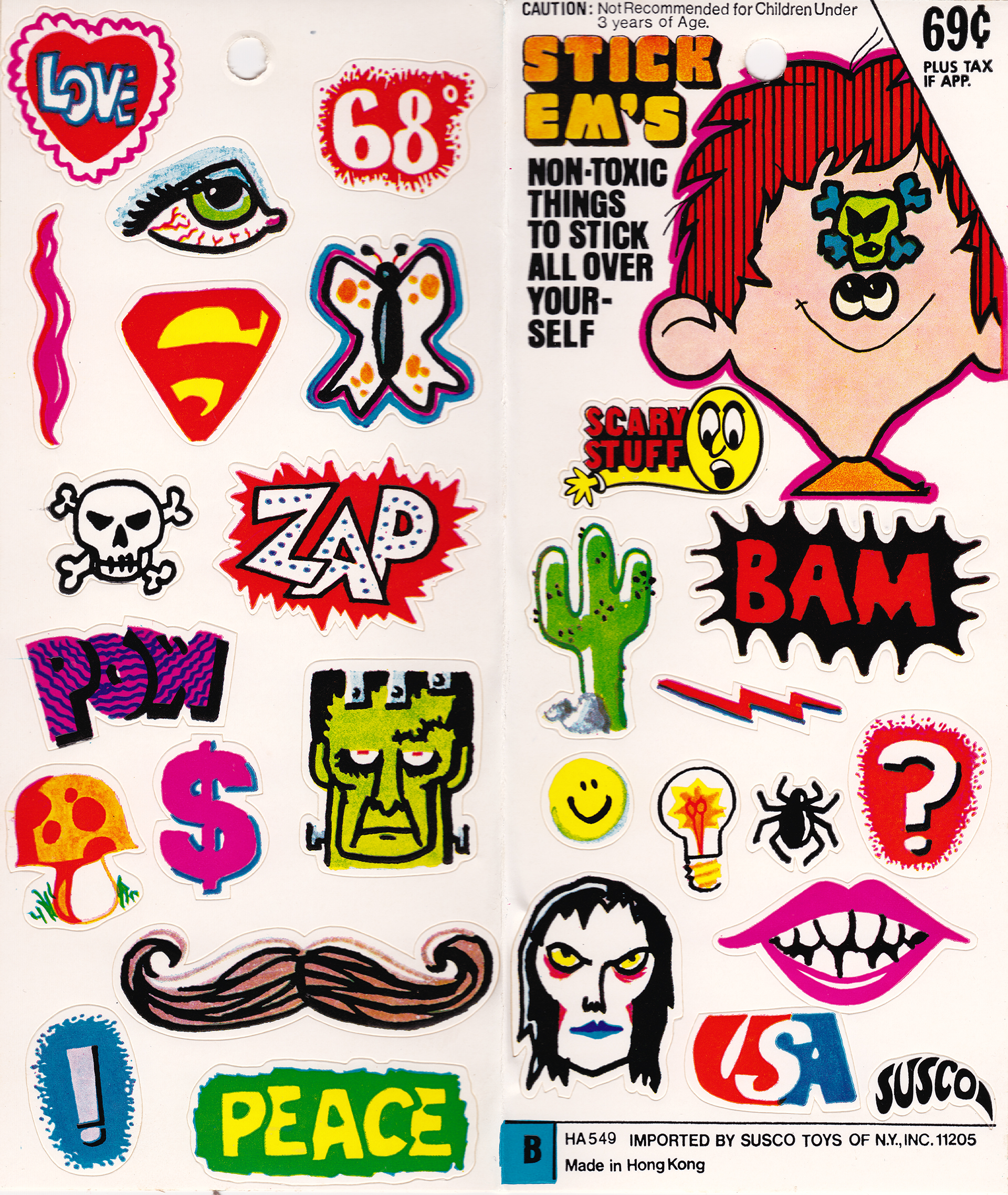 Susco Stickers USA