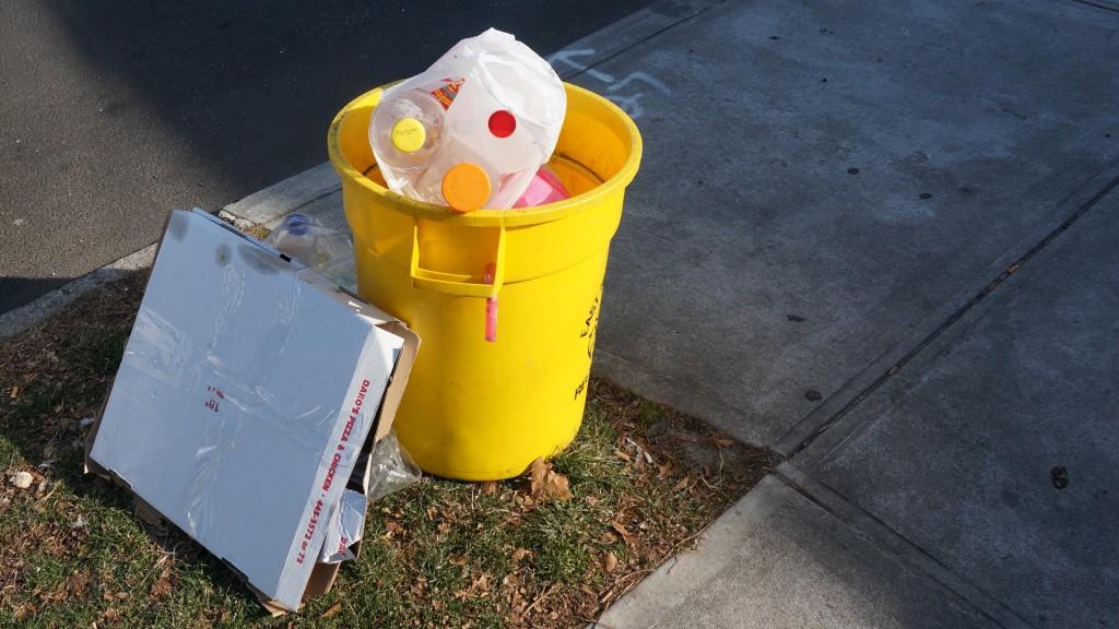 Yellow Garbage Can