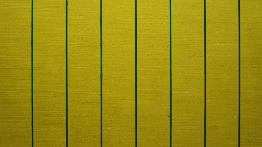 Yellow and Green Wall