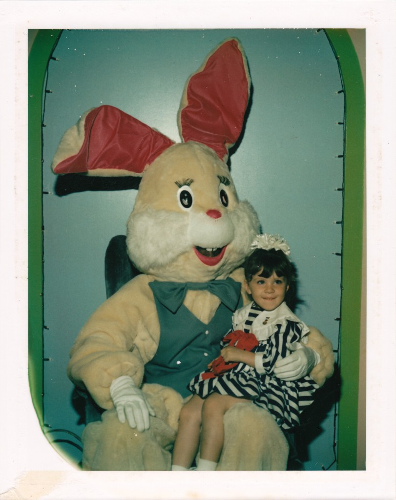 Easter Bunny - Beige Bunny with Girl