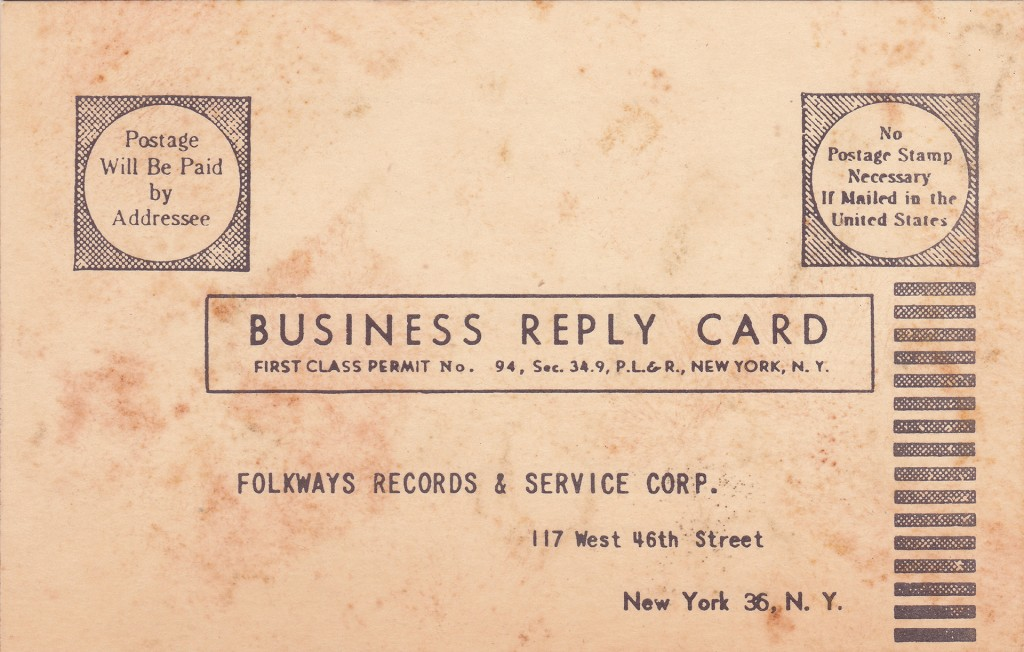 Folkways Card - Front