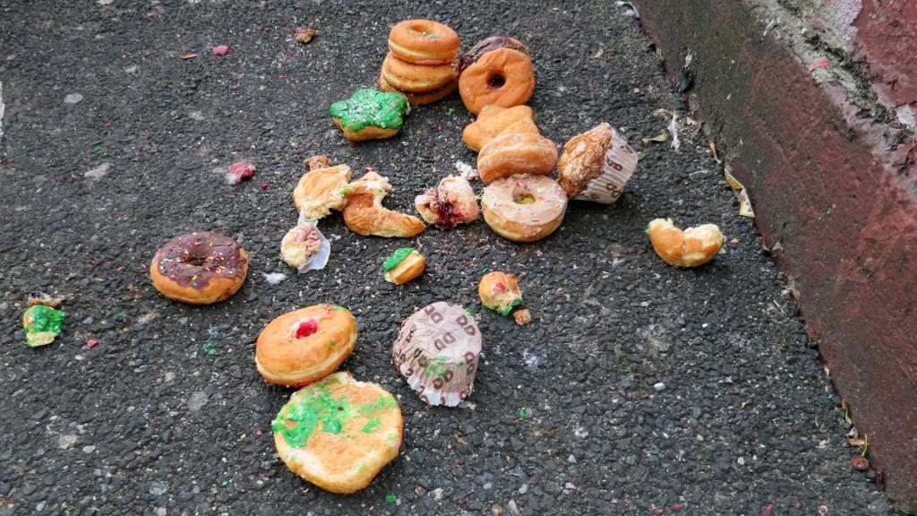 mr p donut pile