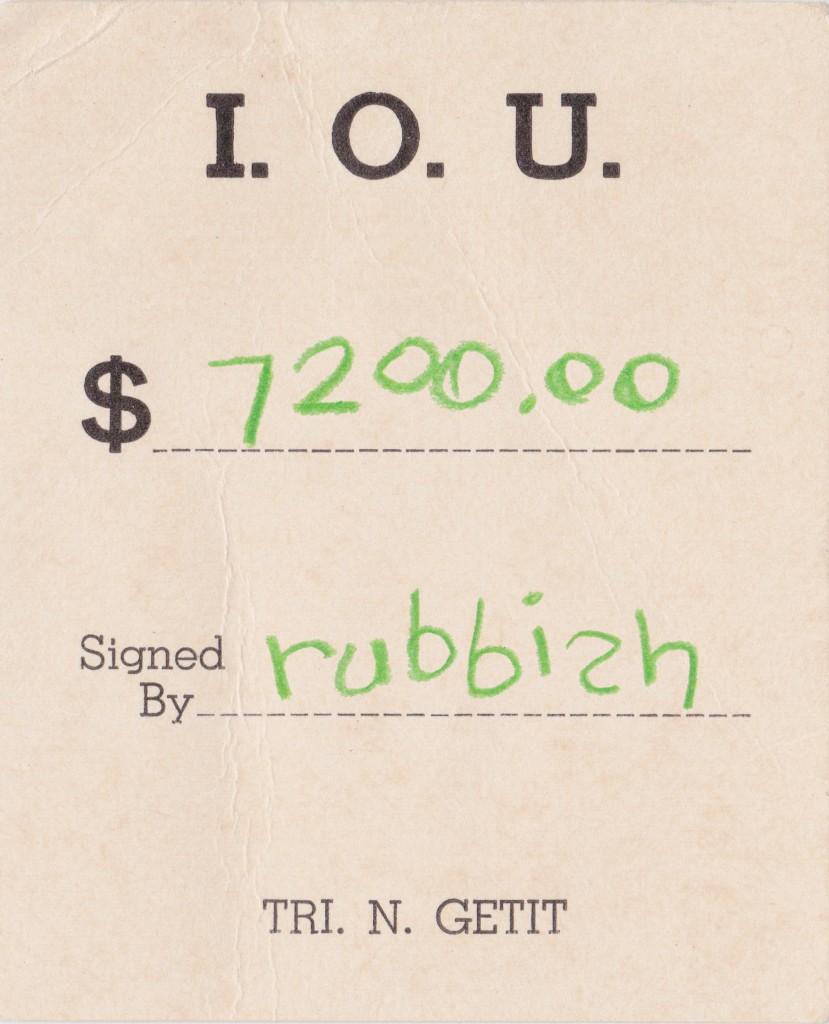 IOU rubbish