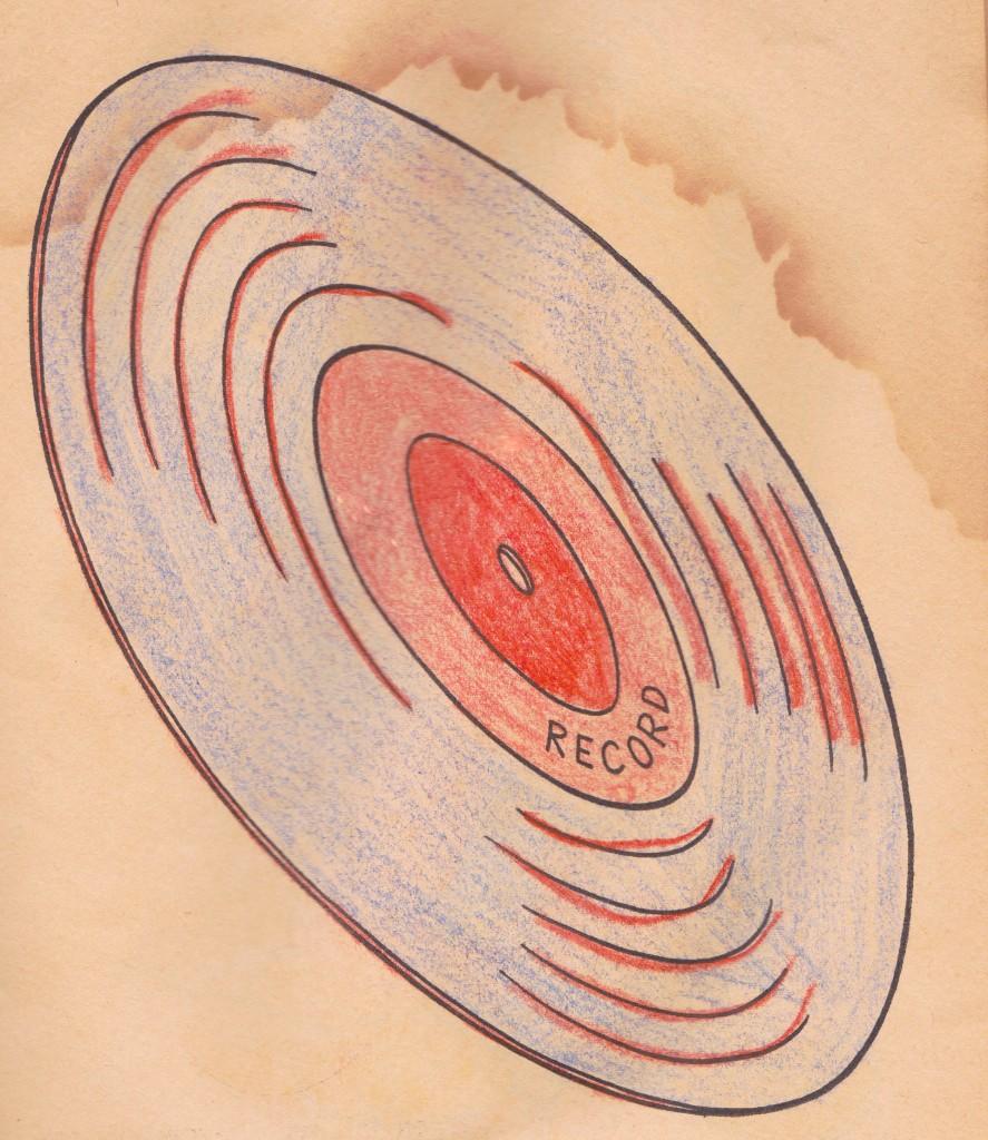 record coloring book