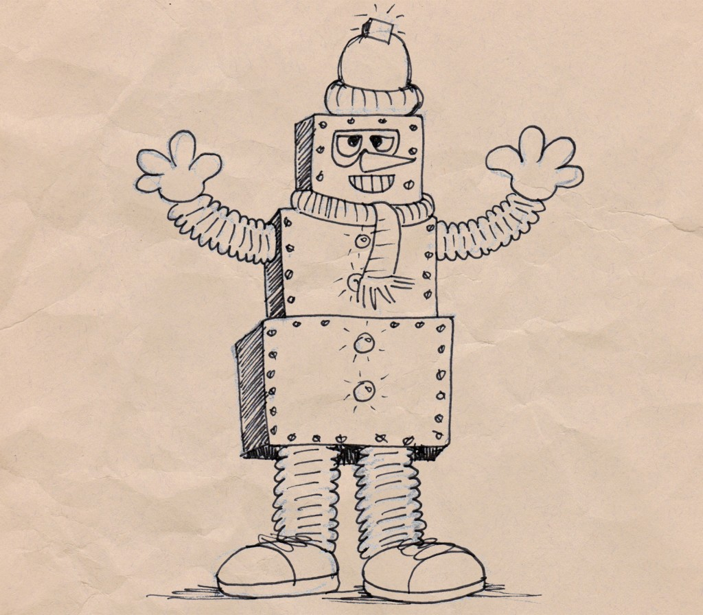 robot bill sketch
