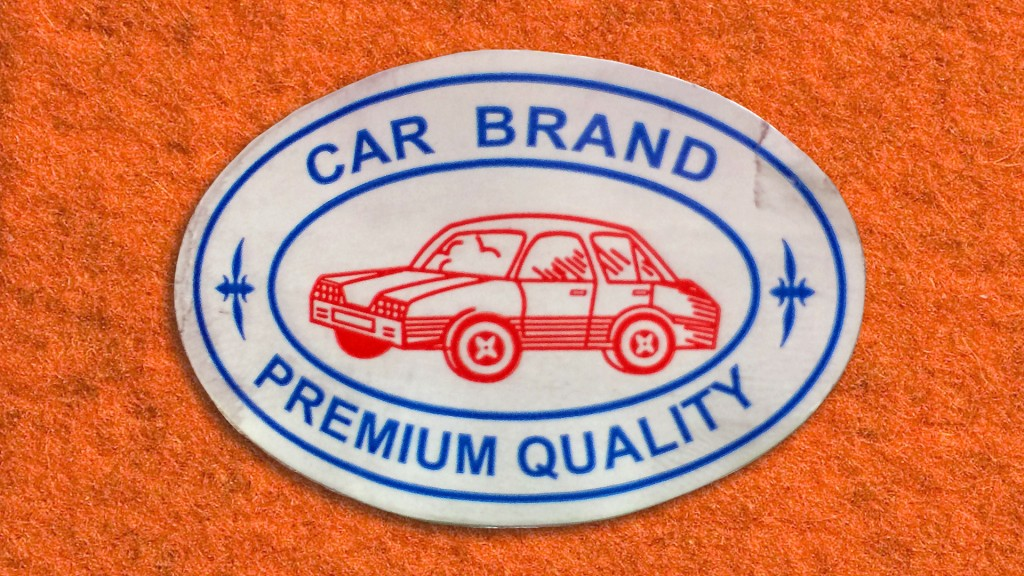 car brand sticker